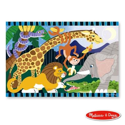 (益智任選) 大型地板拼圖 - 可愛動物園 24片 原價449