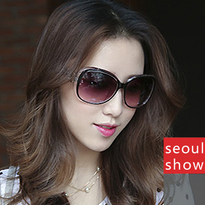 Seoul Show 韓風時尚透明框太陽眼鏡9536黑色