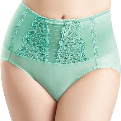 思薇爾 撩波系列M-XXL高腰三角修飾褲(冰湖綠)