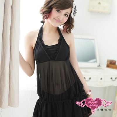 天使霓裳 盛夏風情 兩件式泳衣(黑M~XL)