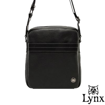 Lynx - 山貓真皮經典款極品型男直式斜背包(小)-共<b>2</b>色