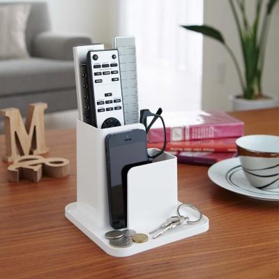 【YAMAZAKI】SMART小物收納座-白★辦公桌/寢室/書桌筆筒/多功能收納