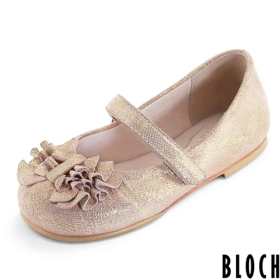 Bloch-澳洲荷葉抓皺芭蕾舞鞋-粉金款