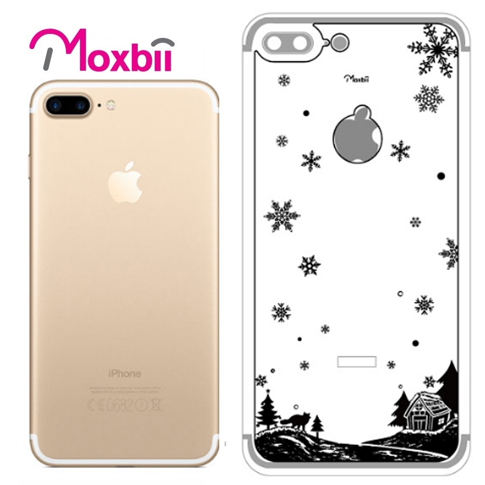 Moxbii iPhone 7 Plus 5.5吋太空盾 光雕系列 背面保護貼-雪夜