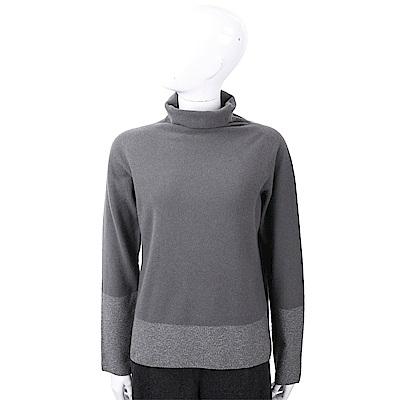 FABIANA FILIPPI 拼色高領針織深灰色美麗諾羊毛衫