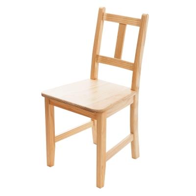 CiS自然行實木家具-南法實木餐椅(扁柏自然色)原木椅墊