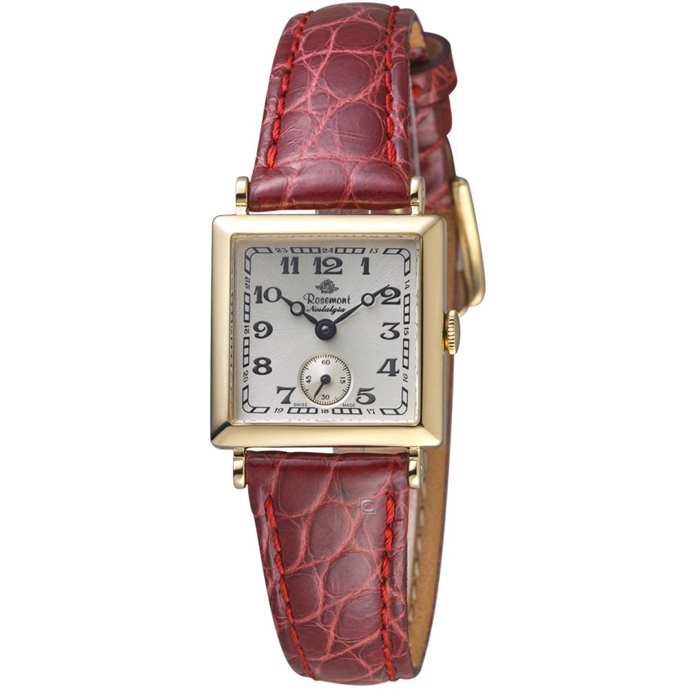 玫瑰錶 Rosemont 戀舊系列時尚腕錶-紅色/23x23mm