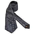 LV M73592經典Mix Monogram系列絲質領帶(煤灰)