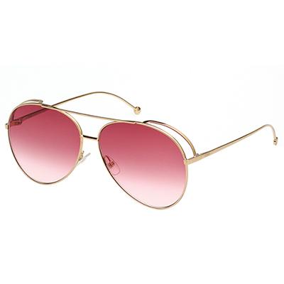 FENDI  雷朋造型 太陽眼鏡 (金色)FF0286S-000