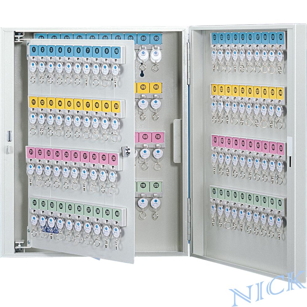 【NICK】乳白色靜電烤漆鋼製鑰匙管理箱_160支