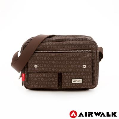 AIRWALK-隨身寶-防潑水百搭口袋側背中包