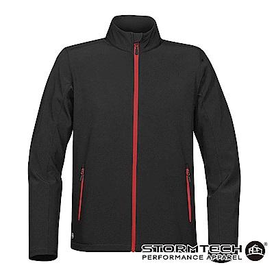 【加拿大STORMTECH】KSB-1抗撥水軟殼運動外套-男-黑紅