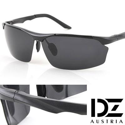 【2件59折】DZ 矚目流線 抗UV 偏光太陽眼鏡墨鏡(酷黑)