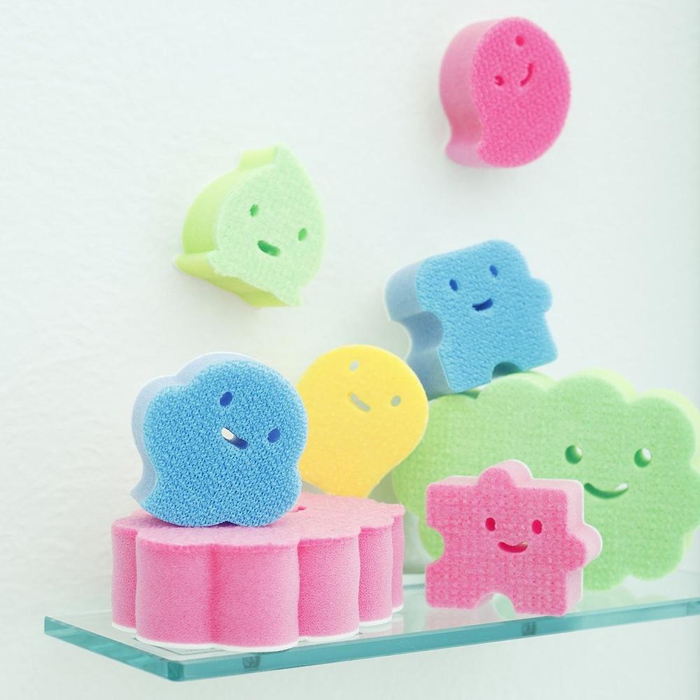 【特惠組】日本製造aisen黏貼式海綿刷5款式6包裝