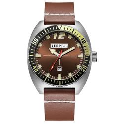 Jeep Spirit 美國指標美式復古風腕錶-銀X褐色/47mm