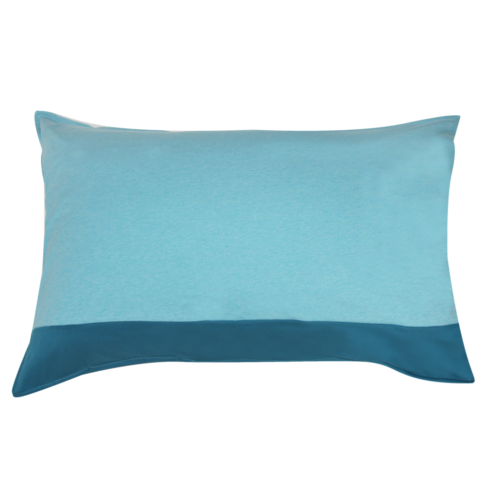 Yvonne Collection北極熊床組枕套-淺藍綠