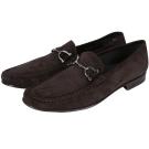 MORESCHI 馬銜造型麂皮樂福鞋(深咖啡色)