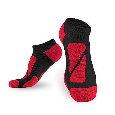 【titan】太肯功能慢跑踝襪_黑/紅_3雙(適合馬拉松、慢跑、健走)