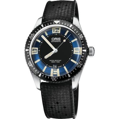 Oris豪利時 Divers Sixty~Five 1965潛水機械錶~藍x黑 40mm