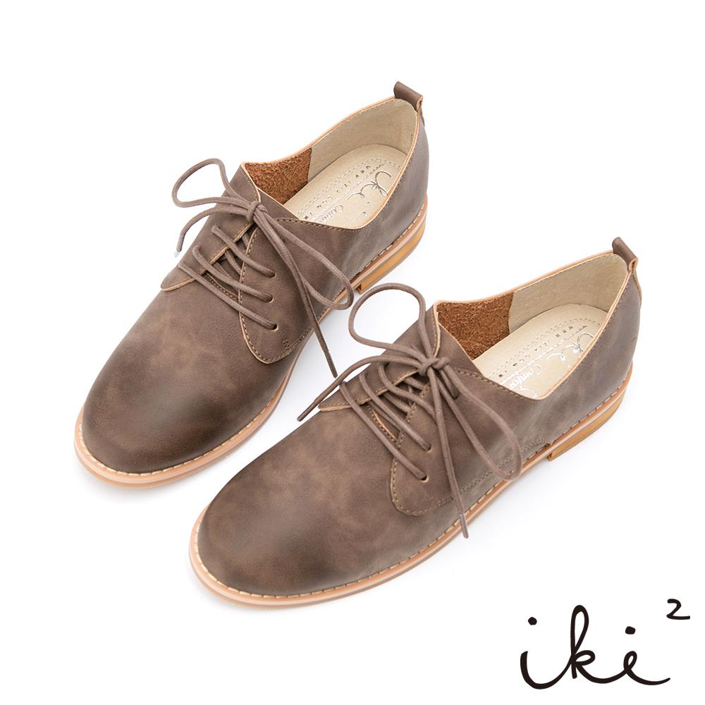 iki2-經典品味真皮親膚牛津鞋-豆青