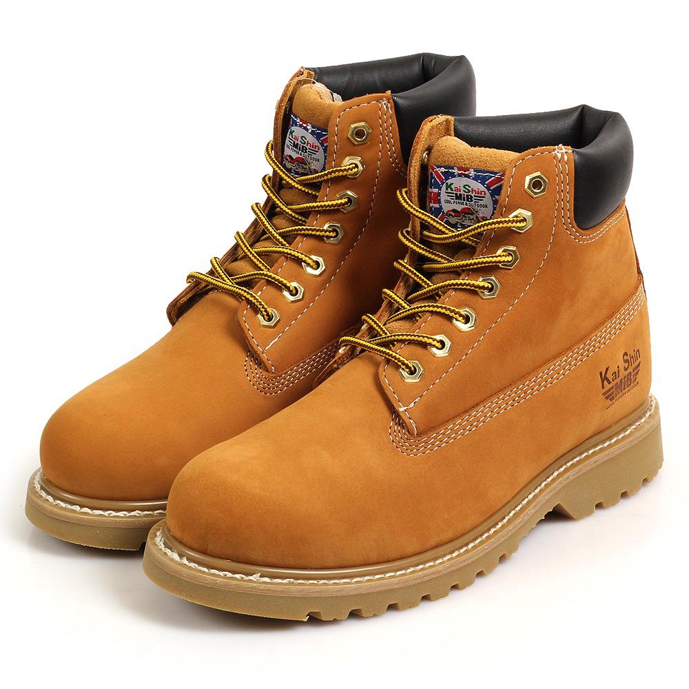 Kai Shin 高筒安全工作鞋 黃褐色 M-G6010N02-KP