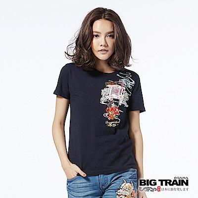 BIG TRAIN 夏日娃娃短袖女款-女-丈青