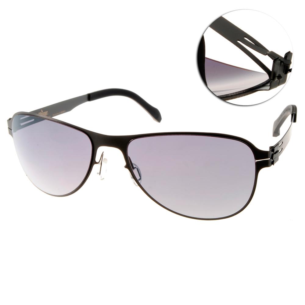 Whisper太陽眼鏡 薄翼鏡框/霧槍黑#WHM0003S C35L