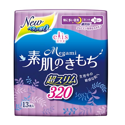 日本大王elis愛麗思清爽零感夜用超薄32cm(13片/包)