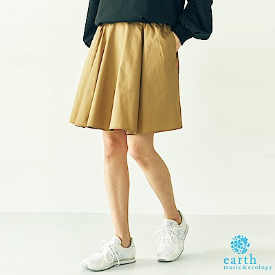 earth music 鬆緊腰素面迷你短裙