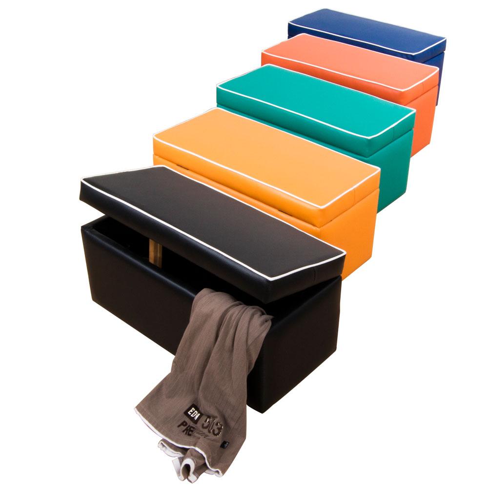 繽紛色彩長掀蓋椅/收納椅(5色)