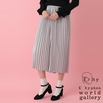 E hyphen  光澤感百摺寬褲裙