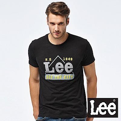 Lee 經典LEELOGO短袖圓領TEE-男款-黑