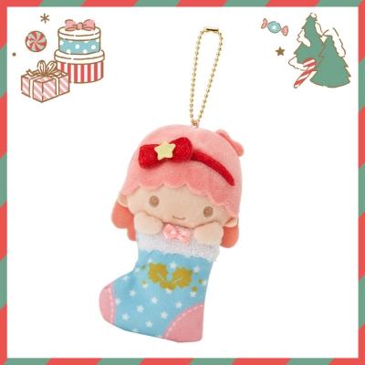 Sanrio SANRIO明星聖誕小鎮系列聖誕襪造型玩偶吊鍊(雙星仙子-LALA)