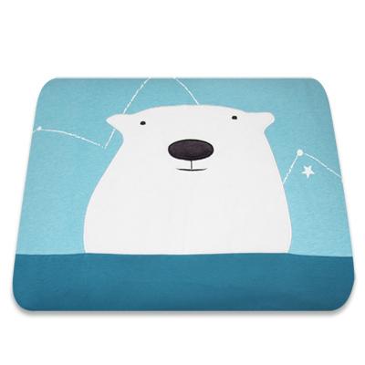 Yvonne Collection5x7呎北極熊單人四季被-淺藍綠