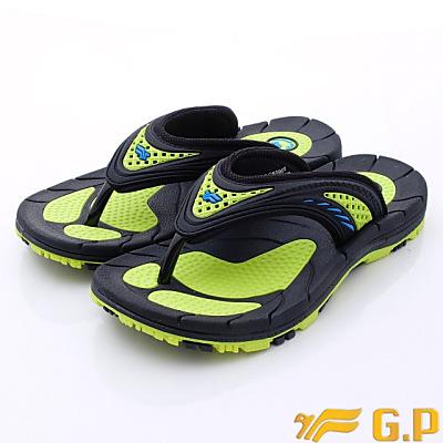 GP時尚涼拖-通風透氣排水中性款-6896-60綠(男段)