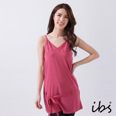 IBS 細肩帶長版上衣-玫瑰紅-女