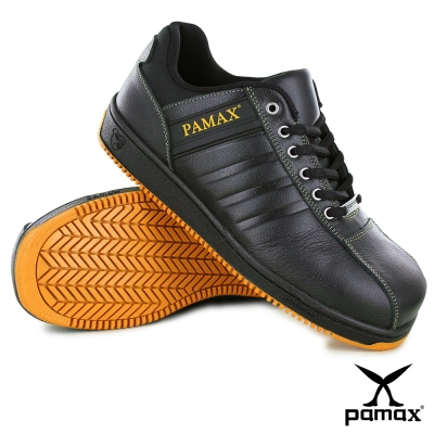 PAMAX 帕瑪斯【休閒型】皮革製高抓地力安全鞋-P09001H