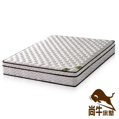 尚牛 三線20mm乳膠舒柔布硬式彈簧床墊-雙人加大6尺