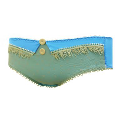瑪登瑪朵-魔俏V-II-低腰平口棉褲-純淨藍