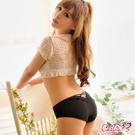 內褲 美妙戀曲!俏麗甜心三角內褲(黑) Caelia
