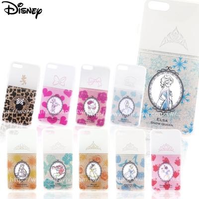 Disney迪士尼iPhone 8/7Plus閃粉雙料保護殼-指甲油系列
