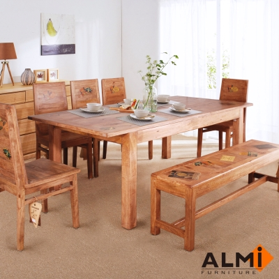 ALMI-WORLD-DINING TABLE 伸展餐桌 W200*D100*H77 cm