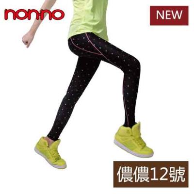 non-no儂儂-12號-運動壓縮褲-粉點點