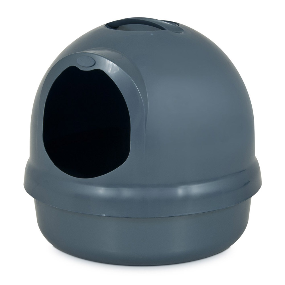 美國Petmate 圓頂貓砂盆 孔雀藍