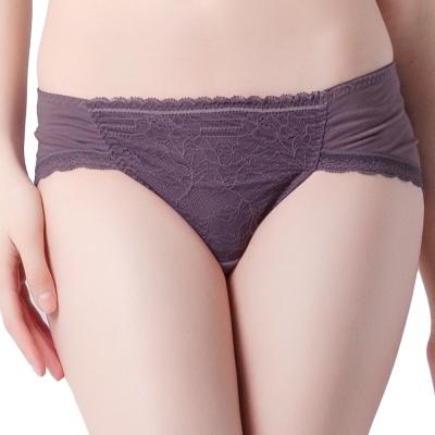思薇爾 舒棉Bra系列低腰三角褲(紫褐色)
