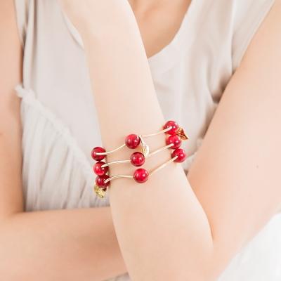 微醺禮物 串珠 鍍K金 立體櫻桃 手鍊