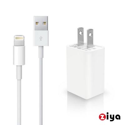 ZIYA iPhone Lightning 8pin USB充電器與充電線組合 時尚靚點款