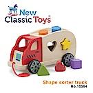 【荷蘭New Classic Toys】寶寶木製幾何積木車 - 10564