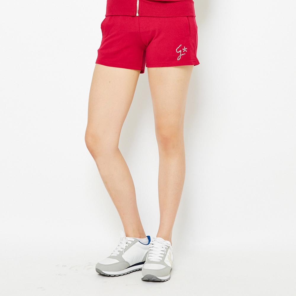 TOP GIRL 舒適棉感休閒針織短褲-紅