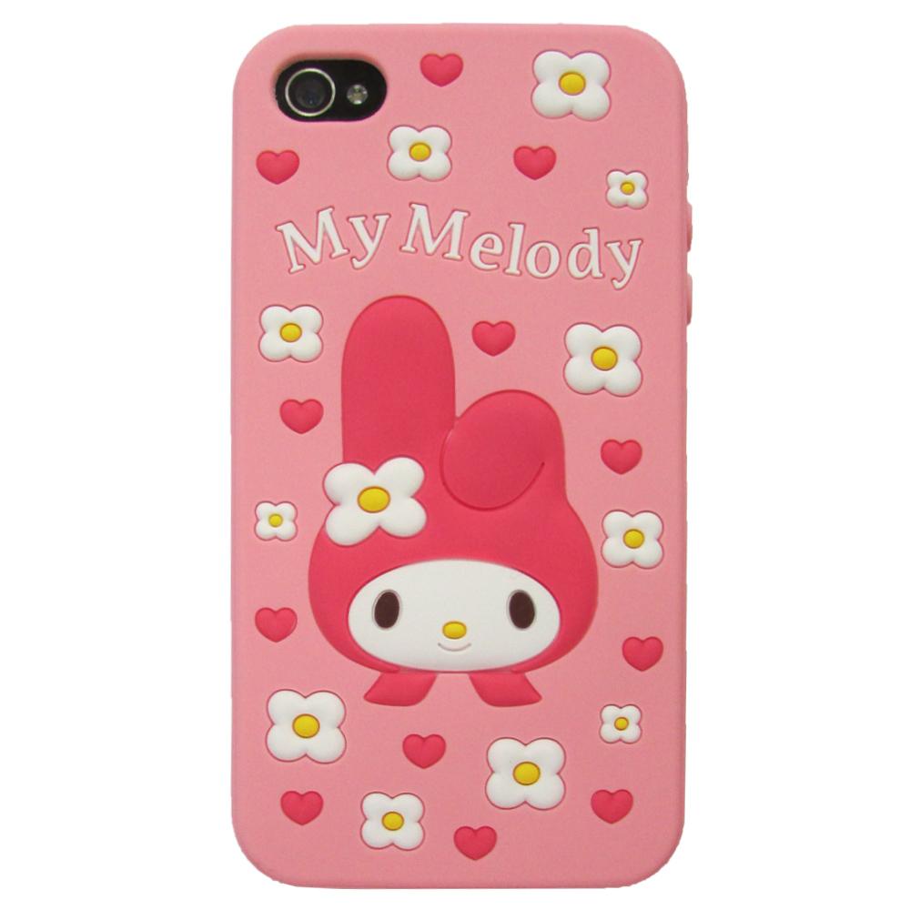 Gourmandise iPhone 4/4S Melody 立體心心花瓣保護套